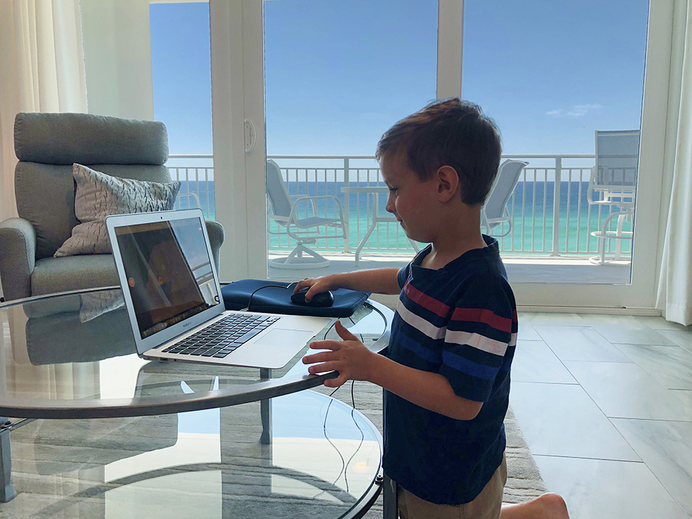 Remote Learning at the Beach