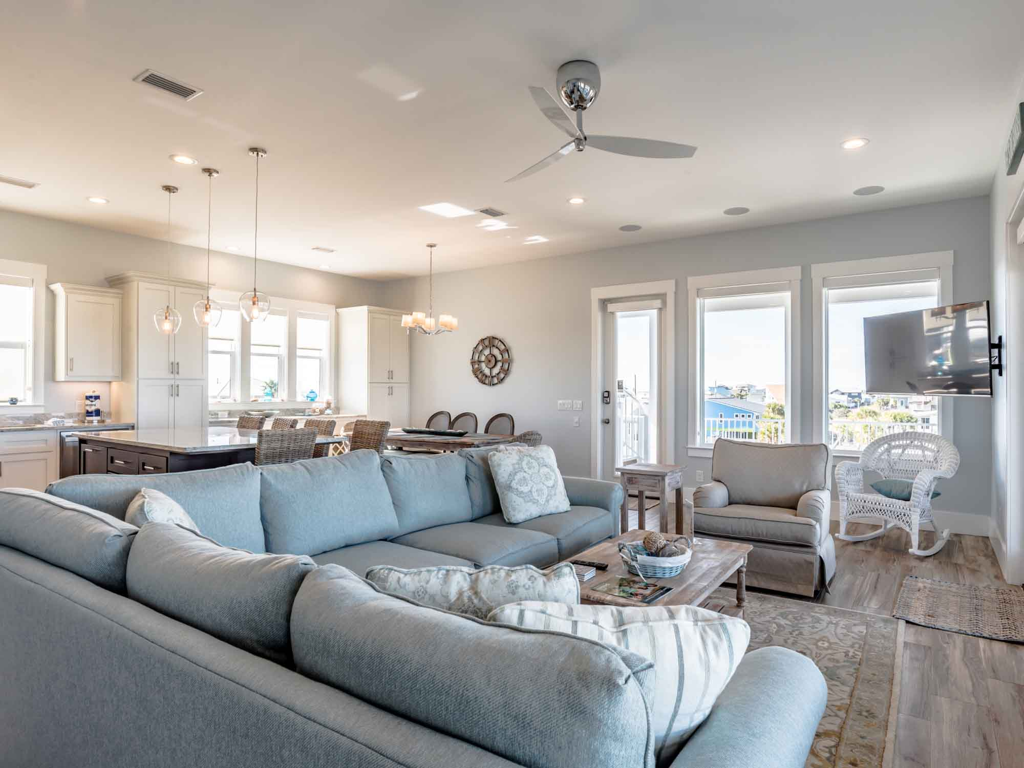 Living room in a Pensacola Beach vacation rental
