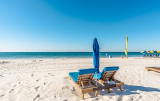 Beach chairs at Oceania in Gulf Shores, AL
