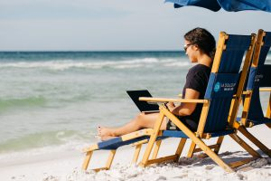 Working Remotely on the Beach